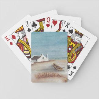 Cabaña y barco del cabo baraja de cartas