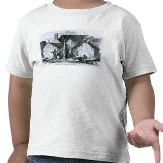 Cabañas del paisanaje en el oeste de Irlanda Camisetas