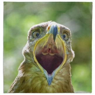 Cabeza 001 de Eagle de la estepa 2,1 Servilleta De Tela