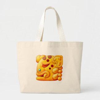 Cabeza ardiente del animal del maya bolsa de mano