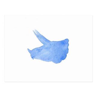 Cabeza azul del Triceratops Postal