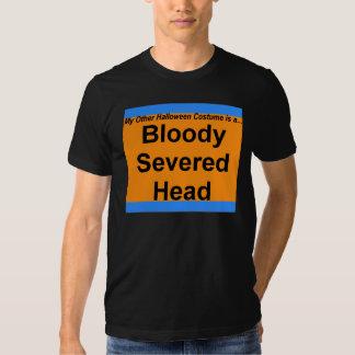 Cabeza cortada sangrienta camisetas
