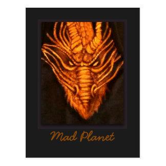Cabeza de bronce del dragón postal