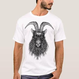 Cabeza de cuernos de la cabra camiseta