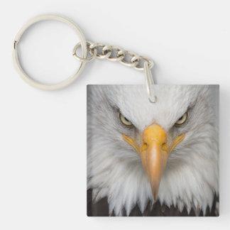 Cabeza de Eagle Llavero Cuadrado Acrílico A Doble Cara