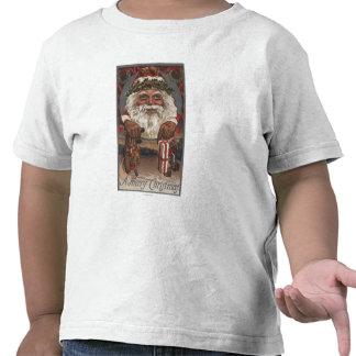 Cabeza de GreetingBig Santa del navidad Camisetas