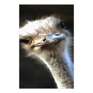 Cabeza de la avestruz papelería