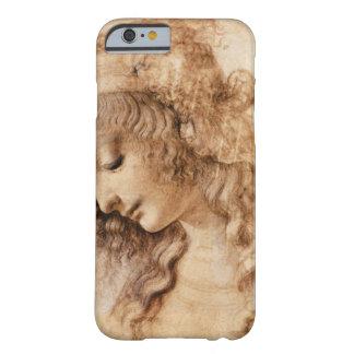 Cabeza de la mujer de Leonardo Funda De iPhone 6 Barely There