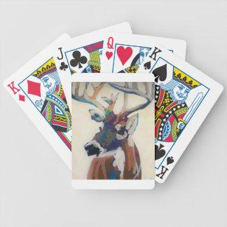 Cabeza de los ciervos baraja de cartas bicycle