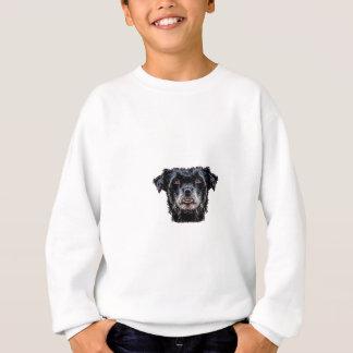 Cabeza de perro negro del demonio sudadera