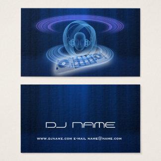 Cabeza del azul de DJ Tarjeta De Visita