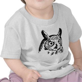 Cabeza del búho camisetas