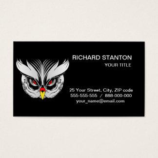 Cabeza del búho tarjeta de negocios