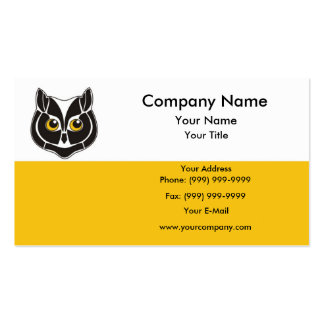 Cabeza del búho plantilla de tarjeta de negocio