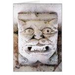 cabeza del demonio en Senanque Abbaye Tarjeton