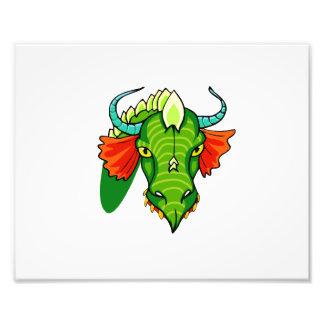Cabeza del dragón con horns.png arte fotografico