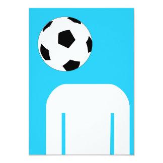 Cabeza del fútbol invitación 12,7 x 17,8 cm
