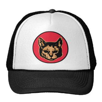 Cabeza del gato en el círculo - color gorras