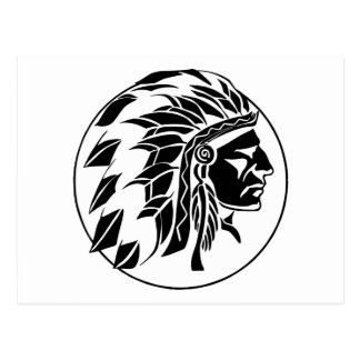Cabeza del jefe indio postal