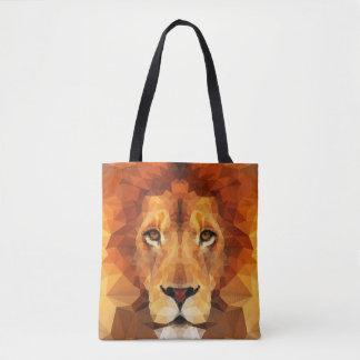 Cabeza del león de Brown por todo la bolsa de asas