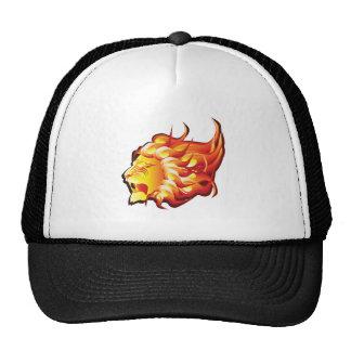 Cabeza del león del fuego gorro de camionero
