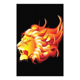 Cabeza del león del fuego papelería