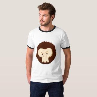 Cabeza del mono del cráneo camiseta