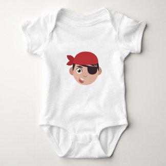 Cabeza del pirata body para bebé