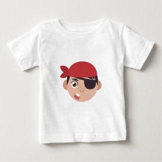 Cabeza del pirata camiseta de bebé