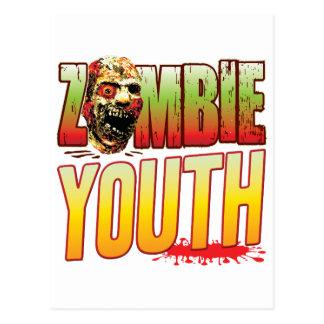 Cabeza del zombi de la juventud postal