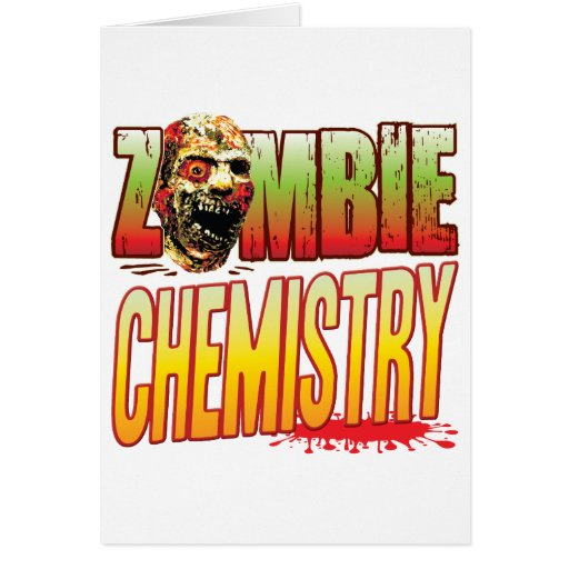 Cabeza del zombi de la química tarjetón