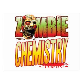 Cabeza del zombi de la química tarjeta postal