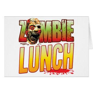 Cabeza del zombi del almuerzo tarjetas