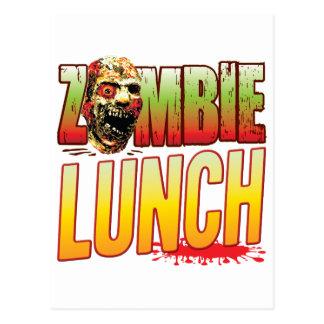 Cabeza del zombi del almuerzo tarjeta postal