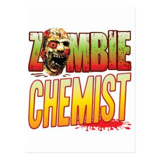 Cabeza del zombi del químico postal
