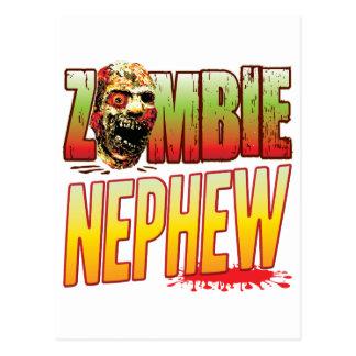 Cabeza del zombi del sobrino postal