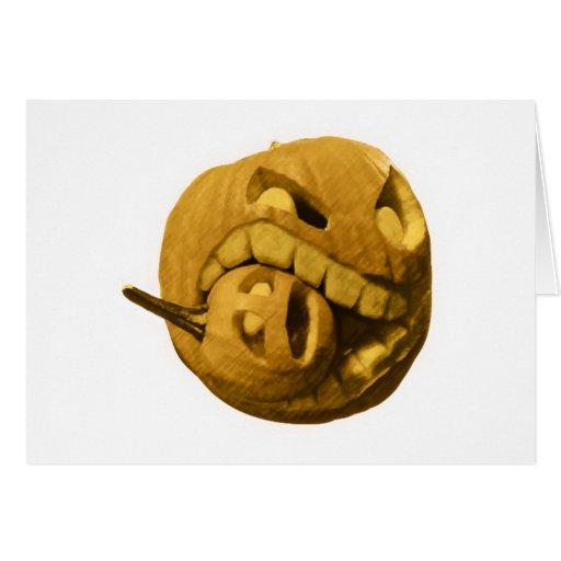 Cabeza divertida de la calabaza de Halloween (vers Felicitacion