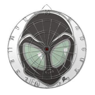 Cabeza extranjera marciana galáctica negra del UFO Diana