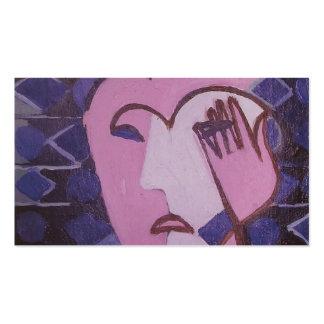 Cabeza femenina triste de Ernst Luis Kirchner- Plantillas De Tarjetas Personales