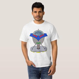 Cabeza flotante del robot camiseta