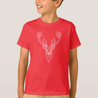 Cabeza geométrica de los ciervos del navidad camiseta