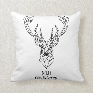 Cabeza geométrica de los ciervos del navidad cojín decorativo