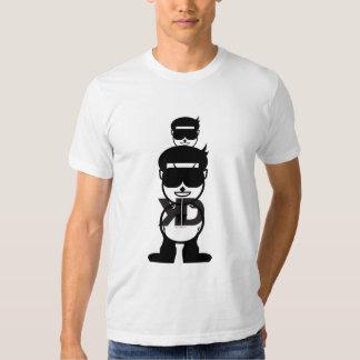 cabeza grande y pequeña cabeza camisetas