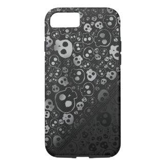 cabeza negra blanca del cráneo funda iPhone 7