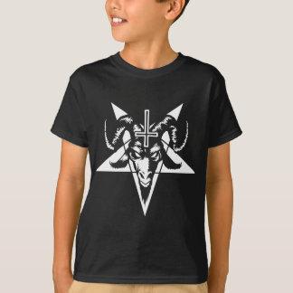 Cabeza satánica de la cabra con el Pentagram Camisetas