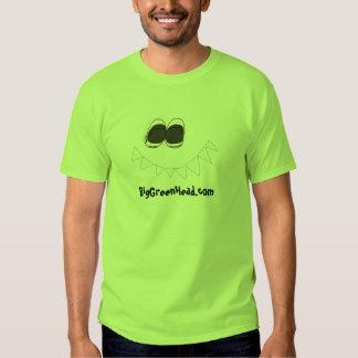 Cabeza verde grande verde camisas