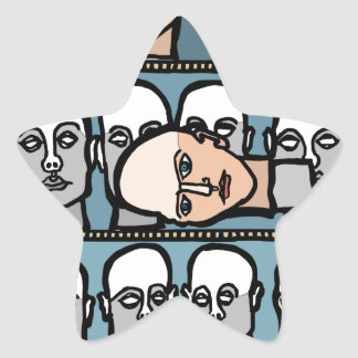 Cabezas del maniquí pegatina en forma de estrella