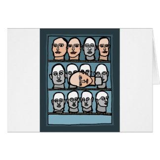 Cabezas del maniquí tarjeta