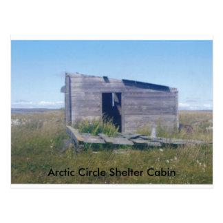 cabina ártica del cirlce, cabina del refugio del postal