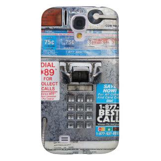 Cabina de teléfono de pago pública divertida carcasa para galaxy s4